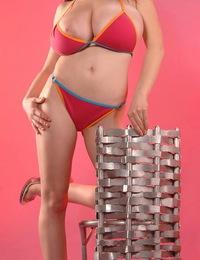 Anya Zenkova in a stretch tight bikini