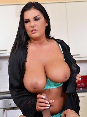 Jasmine Black fucked hard in the kitchen